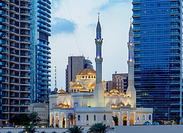 Mohammed Bin Ahmed Almulla Mosque, Dubai Marina, Dubai, United Arab Emirates, Middle East