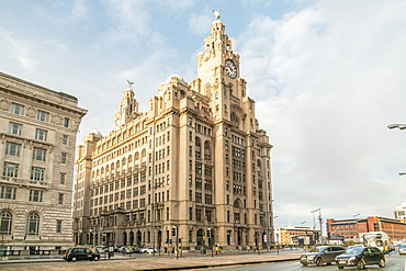 Royal Liver Building in Liverpool, England, Europe