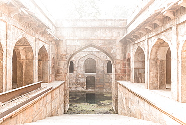 The stepwell at The Red Fort, UNESCO World Heritage Site, Old Delhi, India, Asia