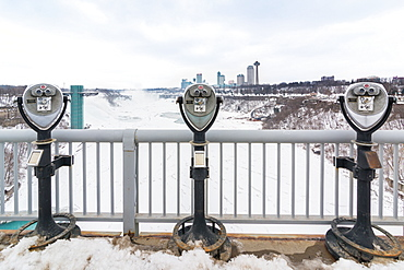 Coin operated binoculars at Niagara Falls, Buffalo, New York State, United States of America, North America