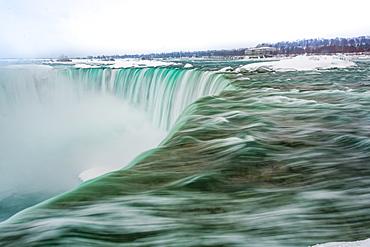 Frozen Niagara Falls in March, Ontario, Canada, North America