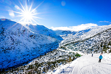 Borovets Ski Resort, mountain views from Yastrebets Gondola, Bulgaria, Europe