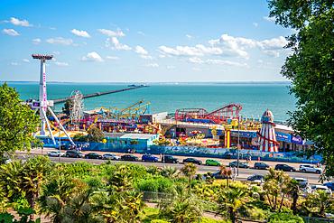 June 2021, Southend On Sea, Essex, England. Adventure Island and Southend Pier