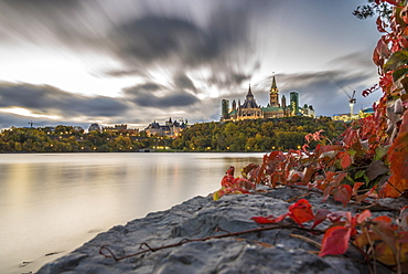 Parliament Hill in the fall, Ottawa, Ontario, Canada, North America