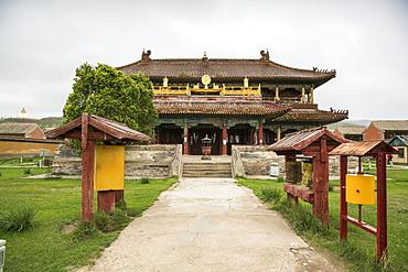 Temple in Amarbayasgalant Monastery, Mount Buren-Khaan, Baruunburen district, Selenge province, Mongolia, Central Asia, Asia
