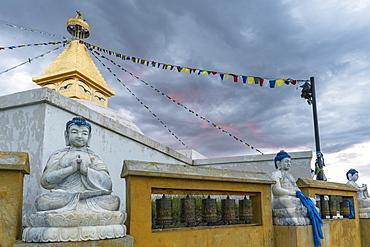Buddhist statues at Amarbayasgalant Monastery at sunset, Mount Buren-Khaan, Baruunburen district, Selenge province, Mongolia, Central Asia, Asia