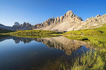 Mountains by Piani Lakes in Italy, Europe