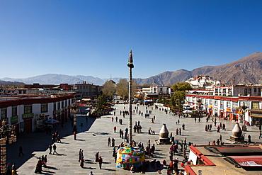 The Barkhor Square, Lhasa, Tibet, China, Asia