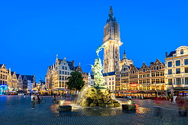 The Grote Markt in the historic centre, Antwerp, Belgium, Europe