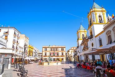 Plaza del Socorro, Ronda, Malaga Province, Andalusia, Spain, Europe