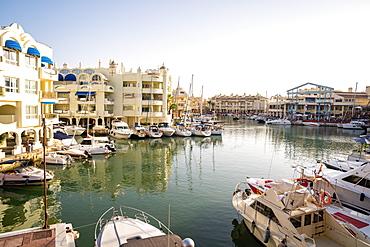 Boats at Benalmadena's Puerto Marina between the Costa Del Sol beach resorts of Benalmadena and Torremolinos, Andalusia, Spain, Europe
