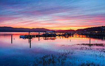 Sunset over Knysna Lagoon, Garden Route, Western Cape, South Africa, Africa