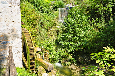 Caglieron caves, Old water mill, Veneto, Italy, Europe