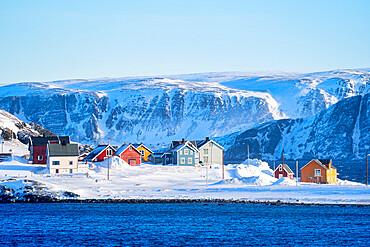 Kongsfjord, Veidnes, Varanger Peninsula, Finnmark, Norway, Scandinavia, Europe