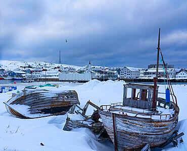 Port, Berlevag, Varanger Peninsula, Finnmark, Norway, Scandinavia, Europe