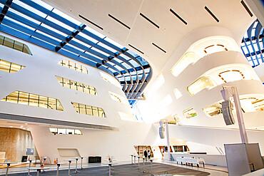 Library and Learning Center by architect Zaha Hadid, Vienna University of Economics and Business (Wirtschaftsuniversitat Wien), Vienna, Austria, Europe