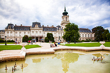 The Festetics Palace, a Baroque palace located in the town of Keszthely, Zala, Hungary.