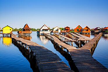 Bokod Floating Village, Oroszlany, Hungary, Europe