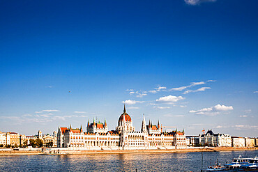 The Hungarian Parliament Building on the banks of the Danube in Pest