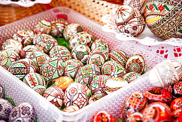 Traditional painted Easter eggs, Transylvania