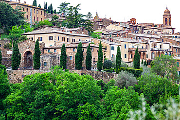 Medieval town of Montalcino, Tuscany, Italy