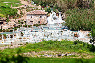 Saturnia thermal baths, Grosseto, Tuscany, Italy