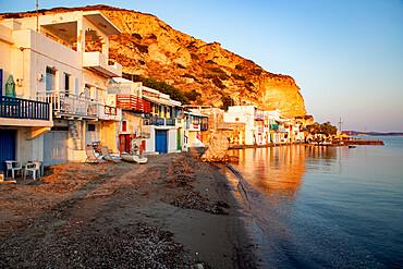 Picturesque colorful village of Klima, Milos island, Cyclades, Greek Islands, Greece, Europe