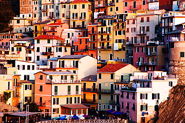 Houses in Manarola, Cinque Terre National Park, UNESCO World Heritage Site, Liguria, Italy, Europe