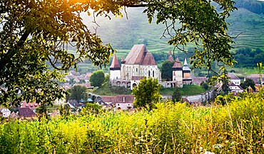 Lutheran fortified church in Biertan (Birthalm), Sibiu County, in the Transylvania region of Romania, Europe