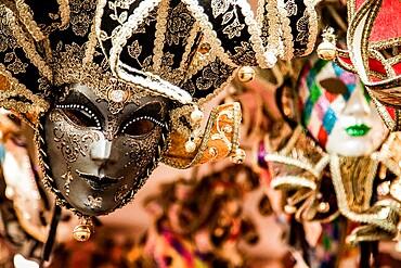 Carnival masks in Venice, Veneto, Italy, Europe
