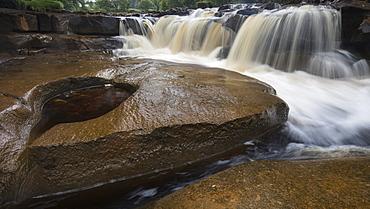 Wain Wath Force waterfall, near Keld, Swaledale, Yorkshire Dales, North Yorkshire, Yorkshire, England, United Kingdom, Europe