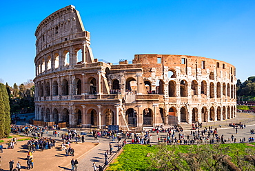 The Colosseum (Flavian Amphitheatre), UNESCO World Heritage Site, Rome, Lazio, Italy, Europe