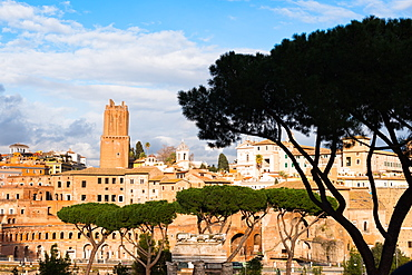 Ancient Rome city skyline with the Trajan Forum and market, Rome, Lazio, Italy, Europe