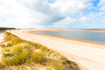 Norfolk Coast Path National Trail at Holkham Bay, Norfolk, East Anglia, England, United Kingdom, Europe