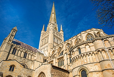 Norwich Cathedral, Norwich, Norfolk, East Anglia, England, United Kingdom, Europe