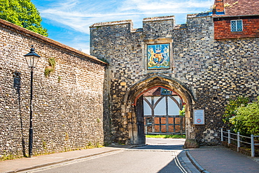 Priors Gate in the old city wall, Winchester, Hampshire, England, United Kingdom, Europe