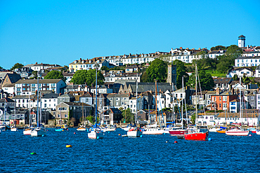 Falmouth seen from the sea, Cornwall, England, United Kingdom, Europe