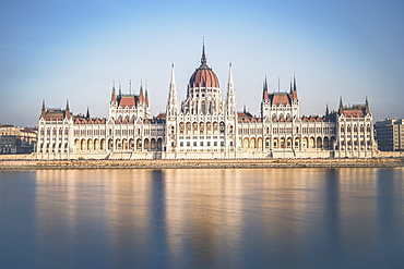 Hungarian Parliament Building across the River Danube, Budapest, Hungary, Europe
