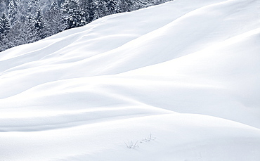 Snow dunes, Switzerland, Europe
