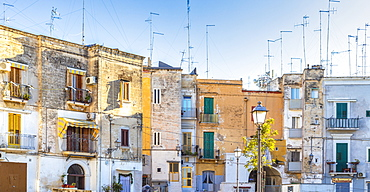 Old houses in the historic centre of Bari, Apulia, Italy, Europe