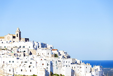 The white village of Ostuni called The White City, Ostuni, Apulia, Italy, Europe