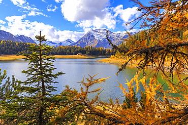 Palu Lake during autumn, Valmalenco, Valtellina, Lombardy, Italy, Europe
