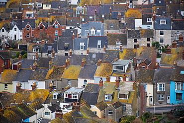 Houses on the Isle of Portland, Dorset, England, United Kingdom, Europe