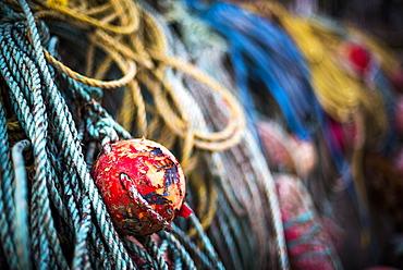 Fishing harbour on Rathlin Island, County Antrim, Ulster, Northern Ireland, United Kingdom, Europe