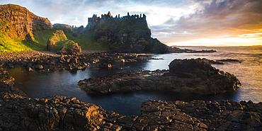 Dunluce Castle, County Antrim, Ulster, Northern Ireland, United Kingdom, Europe