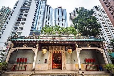 Tin Ha Temple, Causeway Bay, Hong Kong Island, Hong Kong, China, Asia