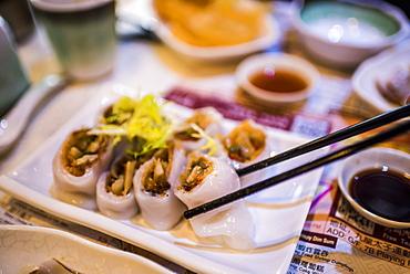 Traditional Dim dum lunch, Hong Kong Island, Hong Kong, China, Asia