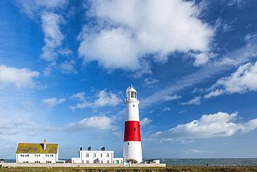 Lighthouse at Portland Bill, Isle of Portland, Dorset, England, United Kingdom, Europe