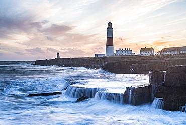 Lighthouse at Portland Bill, Isle of Portland, UNESCO World Heritage Site, Dorset, England, United Kingdom, Europe