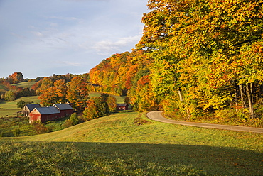 Jenne Farm in an autumn morning, Vermont, USA